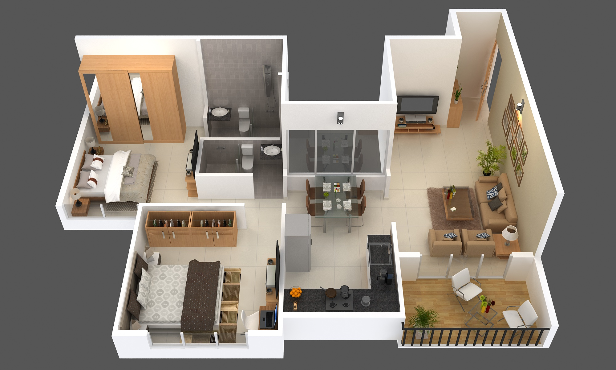 Antariksha Apartment 2BHK image.